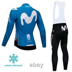 Men's Team Fleece Cycling Winter Jersey Thermal Bib Pants Set Vêtements Uniformes
