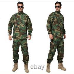 Mens Airsoft Military Tactical Combat Bdu Sets Uniform Jacket Pants Suits Swat