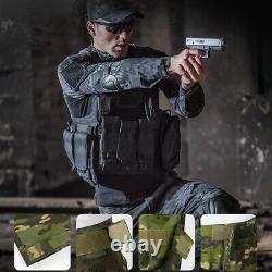 Mens Airsoft Tactical Gen3 Combat T-shirt Pants Special Forces Bdu Uniforme Camo