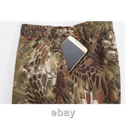Mens Camouflage Uniforme Python Pattern Tactical Suits Outdoor Veste Pantalons Sets