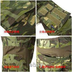 Mens Military Combat Shirt Pants Suits Tactical Swat G3 Uniform Sets Camouflage