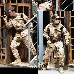 Mens Military Uniform Camouflage Outdoor Combat Coat Pant Cs Sets Overalls