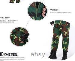Nouveau Camo Tactique Camo Combat Airsoft Set Veste+ Pantalon D'uniforme Militaire Randonnée