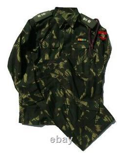Officier Inde Armée Motif Fern Ensemble De Camouflage