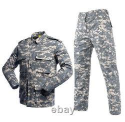 Outdoor Camouflage Tactical Uniforms Hommes Army Combat Suit Sets Vêtements Militaires