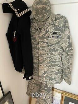 Pantalon D'uniforme Ocp De La Force Aérienne Américaine Complet, Pantalon, Chapeau Large Set Camouflage W Nom