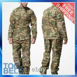 Pantalon De Combat Tactique Militaire De L'armée De Terre Pour Hommes Ensembles De Pantalons Swat Camouflage Uniforme De L'edr