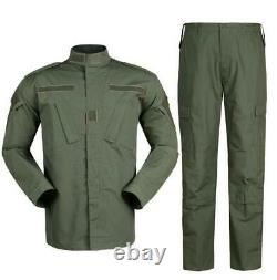 Pantalon De Combat Tactique Militaire Ensemble De Pantalons Uniforme Army Green