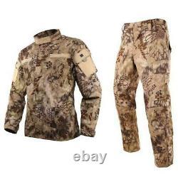 Pantalon De Veste Pour Hommes Ensemble De Pantalons Militaires Pantalon Tactique Uniforme De Combat Manches Longues
