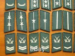 Série 07 Chine Pla Armée Camouflage Collier Uniforme Rang Badge, Ensemble, 22 Paire