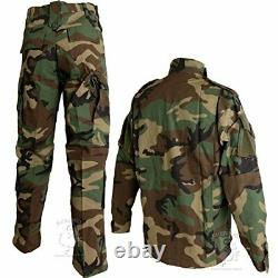 Shenkel Uniformes De Camouflage Mis En Place Woodland L West 85-89cm Bdu. Du Japon