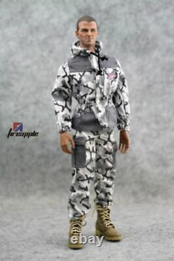 Snow Camouflage 1/6 Scale Hooded Camo Top Pants Vêtements Uniforme Modèle