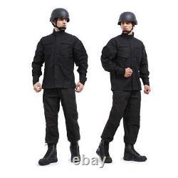 Swat Black Painball Militaire Camouflage Suit Airsoft Uniforme Sets-jacket Pantalon