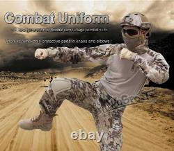 Tactical Military Army Combat Uniform Pant Frog Suit Camouflage Hunting Tops Set