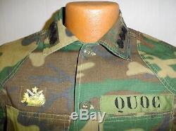 U3b-127 Rvn Originale Viêtnam Camouflage Uniforme Capitaine Ranger Quôc Taille 38