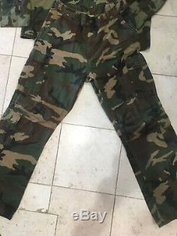 Ultra Force De L'armée Américaine Sur Le Terrain Veste Boutons Manteau De Duvet Camo Camouflage Set Woodland