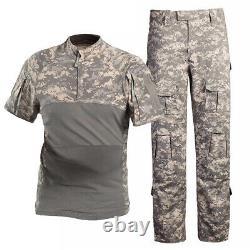 Uniformes Mens Tactique Militaire Set Hunting Séance D'entraînement De Camouflage T-shirts Et Pantalons