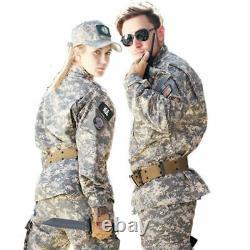 Uniformes Militaires Camouflage Combat Airsoft Tactical Veste Pantalons Set Acu Cp