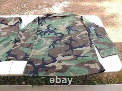 Us Army Usmc Woodland Bdu Camo Camouflage Shirt Pantalon Pantalon Set Medium Nwt