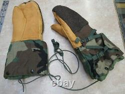 Us Extreme Cold Weather Mitten Set Woodland Camouflage With Harness Medium