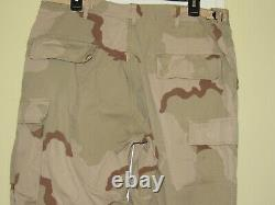 Us Military Desert Camouflage Jacket Shirt & Pants Outfit Set Large Regular
