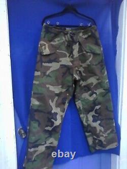 Usgi Woodland Camouflage Gortex Parka Veste Set Pantalon Régulier Moyen Ruff