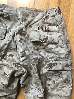Usmc Desert Marpat Camouflage Uniform Set Small-long Top & Medium Regular Bottom