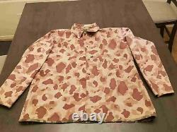 Usmc Wwii P44 Frogskin Réversible Camouflage Shirt - Pantalon Set Vintage XL Minty