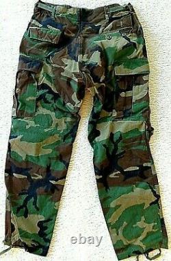 Vintage 1980's Era Bdu Set Camouflage Uniforme De Combat Armée Militaire Américaine