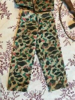Vintage Gi Joe Marines Camouflage Uniforme Et Ensemble De Fusil