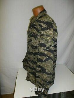 Vnt1mz Rvn Vietnam Tiger Stripe Camouflage Ensemble Uniforme Fermeture Éclair M 42j 35t W2c