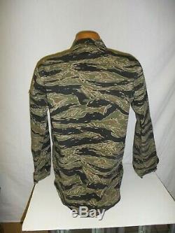 Vnt3sz Rvn Vietnam Tiger Stripe Camouflage Bouton Set Uniforme Petit 40j 31t U1b
