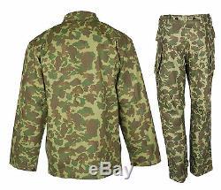 Ww2 Nous Marine Corps D'armée Du Pacifique Camouflage Veste Et Pantalon D'uniforme Set XXL