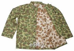 Ww2 Nous Marine Corps D'armée Du Pacifique Camouflage Veste Et Pantalon Set Uniforme L