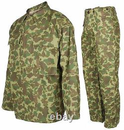 Ww2 Nous Marine Corps D'armée Du Pacifique Camouflage Veste Et Pantalon Xl, Uniforme