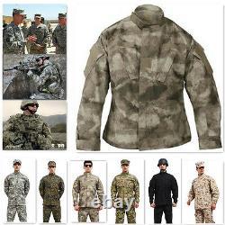 Xs-xxl Mens Ripstop Camouflage Tactique Militaire Uniforme Veste Pantalon 1 Ensembles